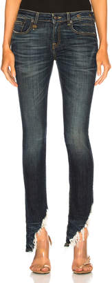 R 13 Kate Skinny with Angled Hem