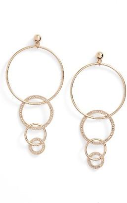 Women's Ettika Dangle Hoop Drop Earrings $35 thestylecure.com