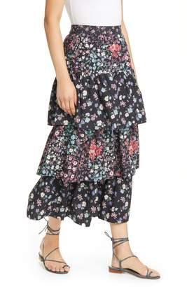 LoveShackFancy Iggy Tiered Ruffle Maxi Skirt