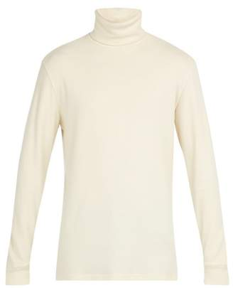 Barena Venezia - Baglio Locky Roll Neck Long Sleeved Cotton T Shirt - Mens - Cream