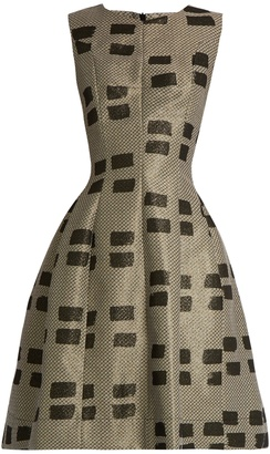 VIVIENNE WESTWOOD ANGLOMANIA Joan sleeveless brushstroke-brocade dress