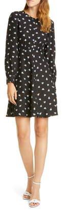 Rebecca Taylor Brigette Long Sleeve Silk Minidress