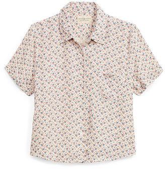 Ralph Lauren Denim & Supply Cropped Floral Shirt $69.50 thestylecure.com