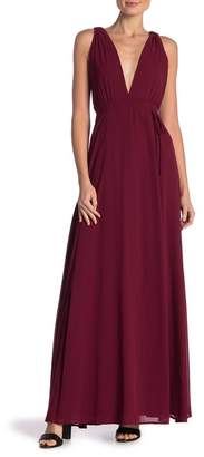 Dee Elly Plunging Maxi Dress