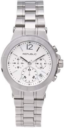Republic Women's Stainless Steel Runway Chronograph Watch
