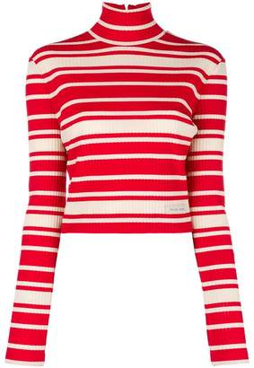 Prada striped roll-neck sweater