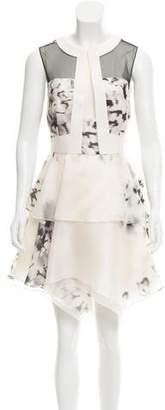 J. Mendel Ruffled Silk Dress