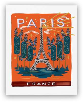 "Rifle Paper Co. Bon Voyage Art Print - Paris, 8"" x 10"""