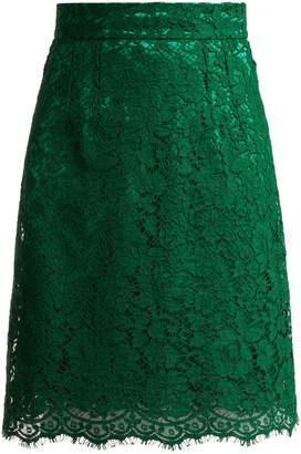 Dolce & Gabbana High-waist lace skirt