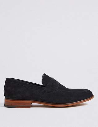 Marks and Spencer Suede Saddle Slip-on Loafers