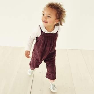 The White Company Cord Dungarees with Toy, Plum, 0-3mths