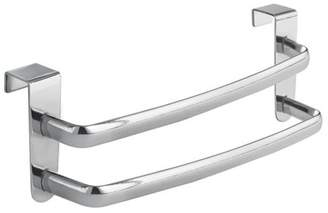 """InterDesign Axis Over-the-Cabinet Kitchen Dish Towel Bar Rack - 9"""", Chrome Double Towel Bar..., By Ship from US"""