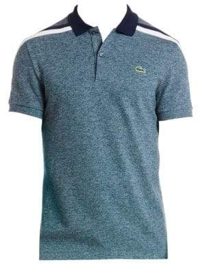 Lacoste Striped Shoulder Polo
