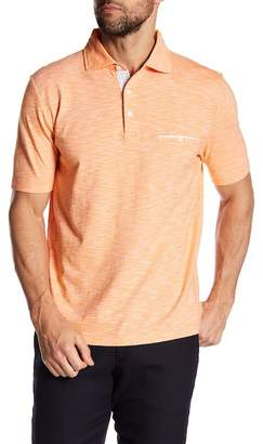 Thomas Dean Short Sleeve Knit Regular Fit Polo