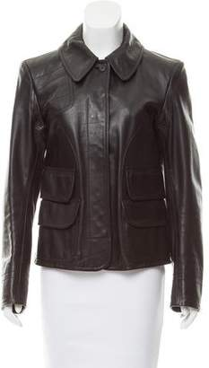 Calvin Klein Collection Structured Leather Jacket