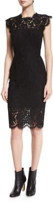 Rachel Zoe Suzette Floral Lace Sheath Dress, Black