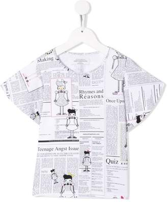 John Galliano newspaper print T-shirt