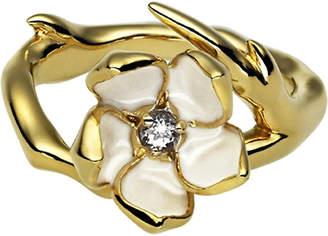 Shaun Leane Sterling silver gold vermeil single blossom ring