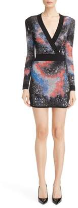 Balmain Constellation Jacquard Minidress