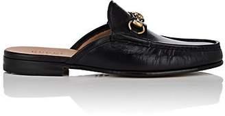 Gucci Men's Horse-Bit Leather Slippers - Black