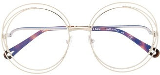 Chloé Eyewear wire accent glasses