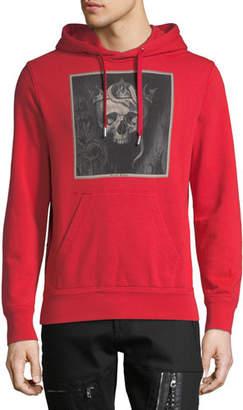 Alexander McQueen Men's Skull Graphic-Print Hoodie Sweatshirt