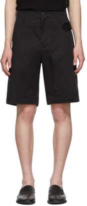 Isabel Benenato Black Cargo Shorts