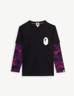 A Bathing Ape Layered long sleeve cotton t-shirt