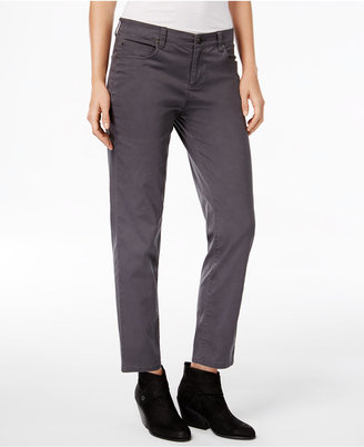 Eileen Fisher Organic Cotton-Blend Cropped Boyfriend Jeans $178 thestylecure.com