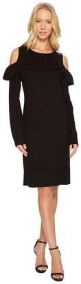 Catherine Malandrino Cold Shoulder Ruffle Yoke Bodycon Dress Women's Dress