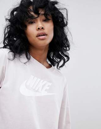 Nike Long Sleeve T-Shirt In Pink