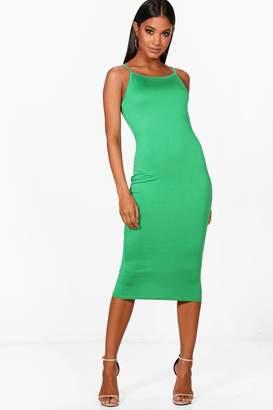 boohoo Strappy Midi Bodycon Dress