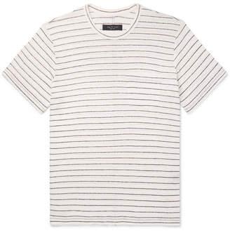 Rag & Bone Striped Slub Linen-Jersey T-Shirt