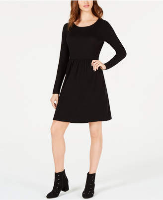 Maison Jules Pleated Fit & Flare Dress