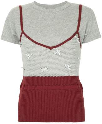 Tu Es Mon Trésor ribbon-detail camisole T-shirt