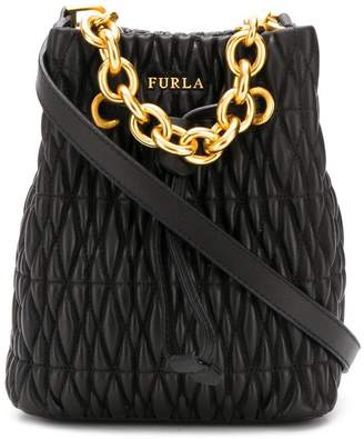 Furla Stasy quilted bucket bag