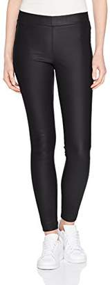Kaffe Women's Ada Coated Jeggings Leggings, (Black deep 50600), 8