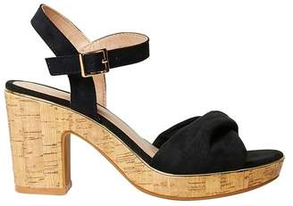 Dorothy Perkins Black Roxanne Wedge Sandals