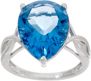 QVC 8.85 cttw Pear Color Change Fluorite RingSterling