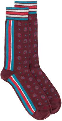 Etro paisley striped socks