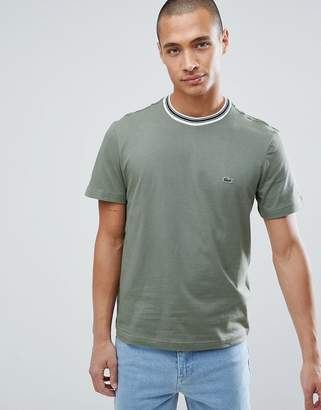 Lacoste Tipped Ringer T-Shirt In Green
