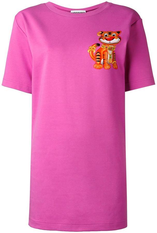 MoschinoMoschino tiger print T-shirt dress
