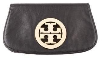 Tory Burch Raphael Logo Clutch - BLACK - STYLE