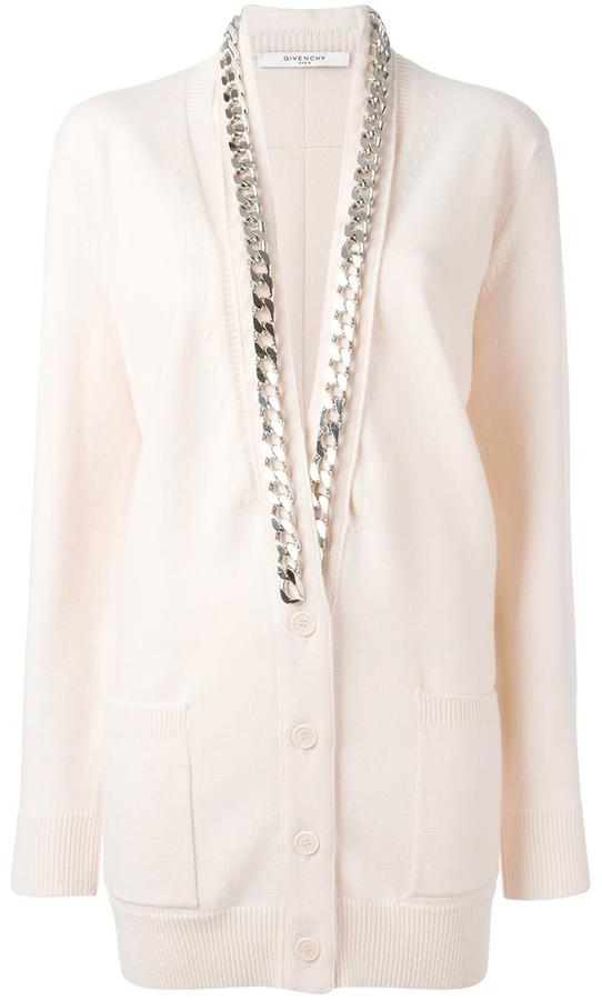 Givenchy chain trim cardigan