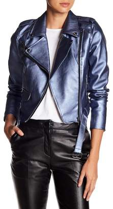 Romeo & Juliet Couture ROMEO &JULIET COUTURE Metallic Faux Leather Jacket
