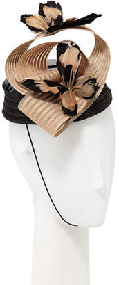 Marzi Fascinator Hat w/ Feather Butterflies