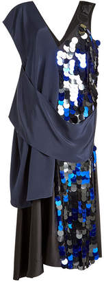 Diane von Furstenberg Silk Dress with Sequin Embellishment