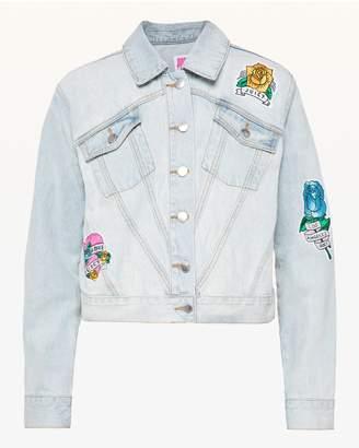 Juicy Couture JXJC Tattoo Patch Denim Jacket