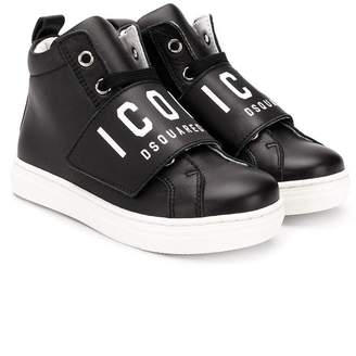 DSQUARED2 Icon touch-strap hi-top sneakers
