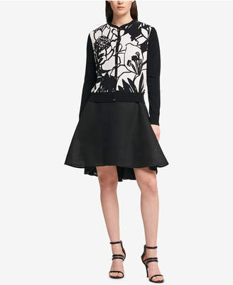 DKNY Printed Button-Front Cardigan, Created for Macy's